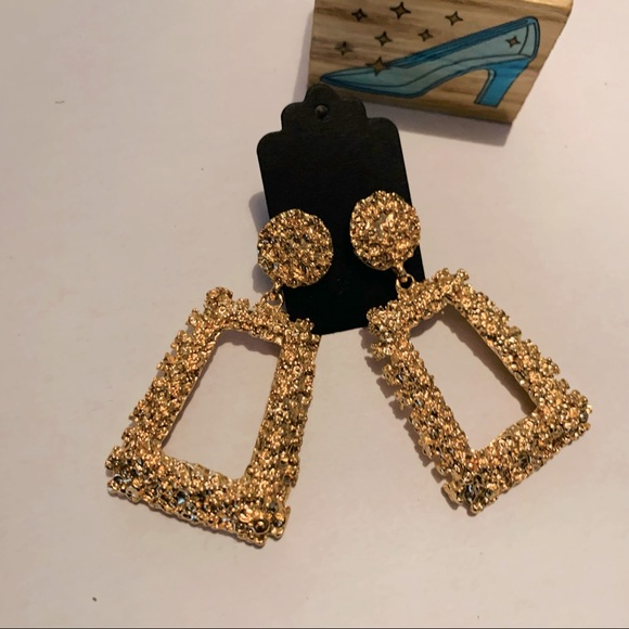 Vintage Fashion Block Drop Earrings